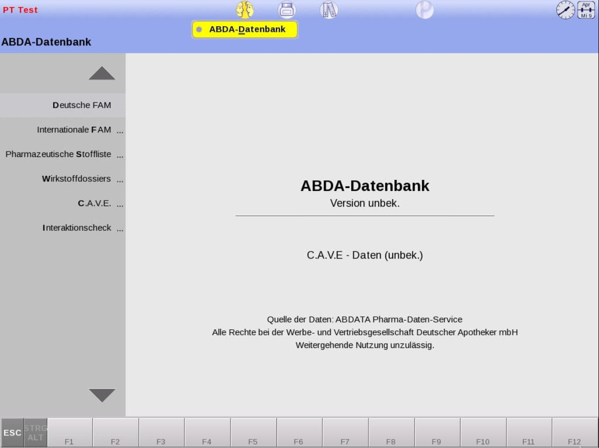 ABDA Datenbank Screenshot