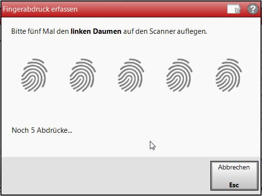 IXOS Fingerprint Screenshot